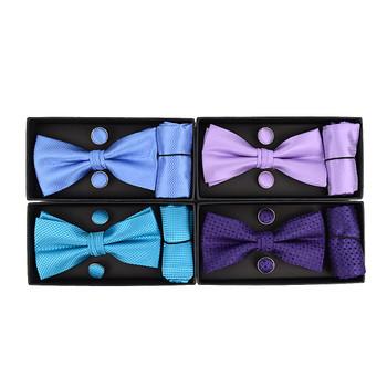 12pc Pack Assorted Bow Tie, Matching Hanky & Cufflinks BTHC2000