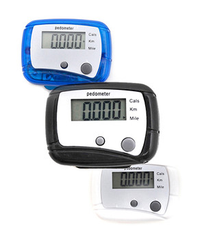 12pcs. Ultra-Mini LED Pedometer PDM1