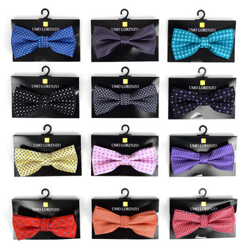 12pc Prepack Assorted Men's Neat Pattern Poly Woven Banded Bow Ties FBB-NT