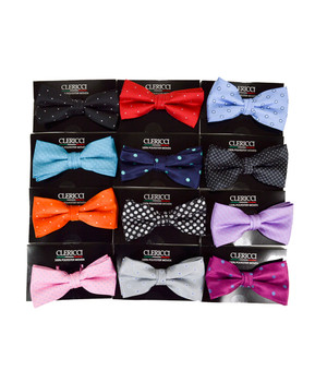 12pc Prepack Assorted Banded Bow Ties FBB-PLK (Polka Dots)