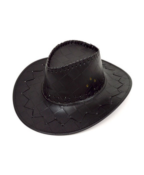 "6pc 3.5"" Brim Cowboy Hat H9312"
