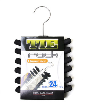 Chrome Plated Tie Rack TR24