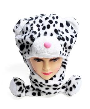 6pc Pre-Pack Animal Fleece Hats - Snow Leopard HATCW111248