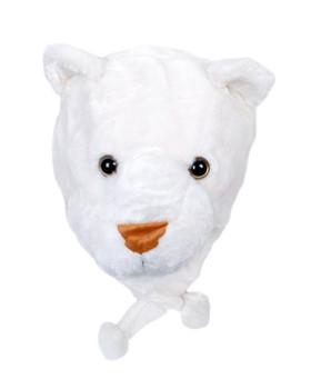 6pc Pre-Pack Animal Fleece Hats - White Lioness HATC2000