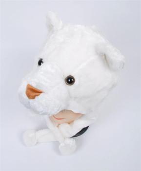 Animal Fleece Hats - White Lioness HATC2000