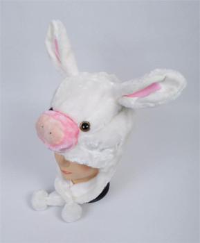 6pc Pre-Pack Animal Fleece Hats - Pig Bunny HATC2060