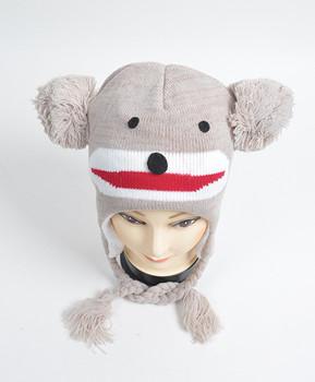 Knit Monkey Animal Hats - AHN011096