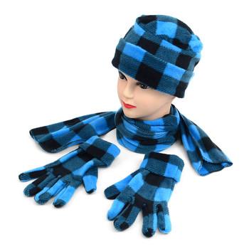 6pc Pack Women's Fleece Azure Plaid Winter Set WSET8020