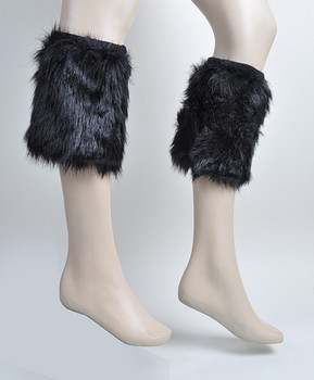 12pc Prepack Faux Fur Leg Warmers - FLW1002