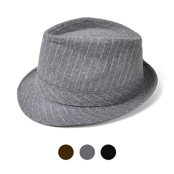 Fall/Winter Pinstriped Trilby Fedora Hat HT0301