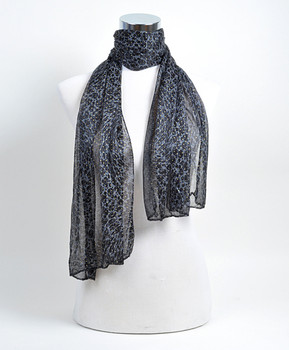 12pc Assorted Pre-Pack Ladies Polyester Scarf LS4020