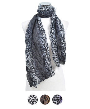 12pc Assorted Pre-Pack Ladies Polyester Scarf LS4080