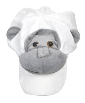 Animal Fleece Cap - White Monkey ACAP2040