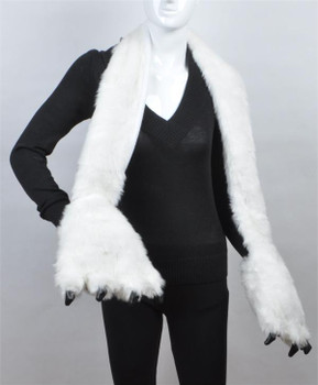 Animal Faux Fur Scarf With Paw AHP1010