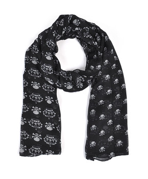 12pc Assorted Pack Viscose Skull Crown Scarf LS4490