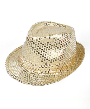 6 pack Sequin Fedora Hat H10246582