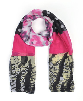 12pc Assorted Pack Viscose Leopard Dot Scarf LS4510