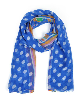 12pc Assorted Pack Viscose Polka Dot Scarf LS4560