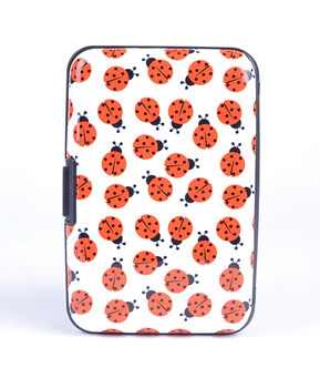 12pc Pack Card Guard Aluminum Compact Card Holder - Ladybug