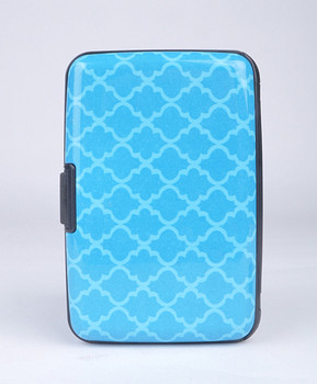 12pc Pack Card Guard Aluminum Compact Card Holder - Blue Pattern