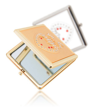 Heart in Box Compact Makeup Magnifying Mirror S461