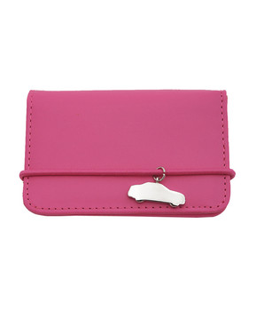 Ladies' Name Card Case with Pink Car Charm NCC056