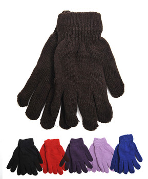 Women's Solid Color Stretch Gloves GL1010