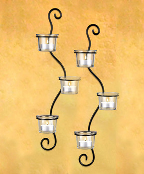 6-Candle Hanging Metal Wall Sconces Gift Set CH1100