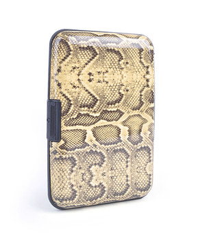Card Guard Aluminum Compact Card Holder - Yellow Snake