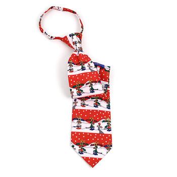 Poly Zipper Christmas Tie PZX4601-RD