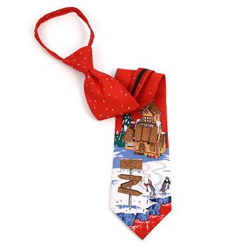 Poly Christmas Zipper Tie PZX4603-RD