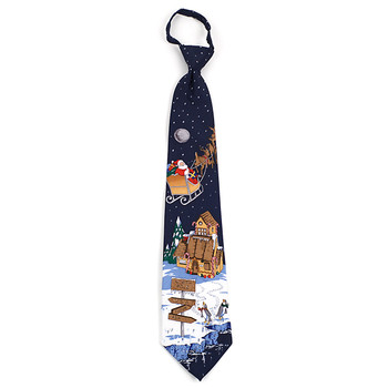 Poly Zipper Christmas Tie PZX4603-NV