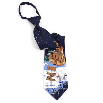 Poly Christmas Zipper Tie PZX4603-NV