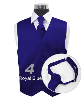 Royal Blue Poly Solid Satin Cravat FC1701-4