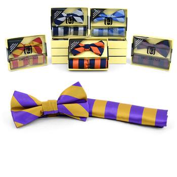12pc Assorted Pack Men's Bow Tie & Hanky Set BTHB7000