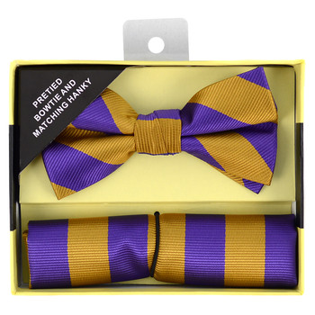 12pc Assorted Pack Bow Tie & Hanky Set BTHB7000