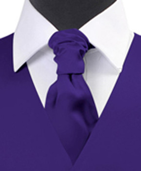 """Dark Purple"" Poly Solid Satin Cravat FC1701-8"