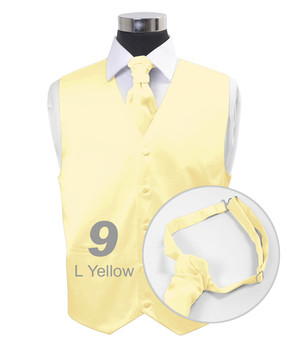 Light Yellow Poly Solid Satin Cravat FC1701-9