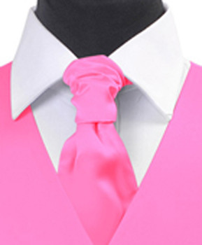 Hot Pink Poly Solid Satin Cravat FC1701-16