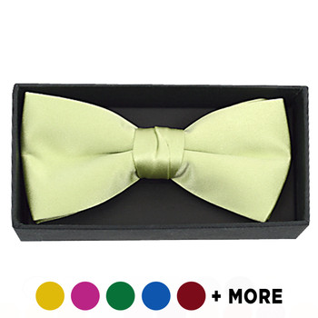 Boxed Men's Poly Satin Clip On Bow Ties - BTC1701BX