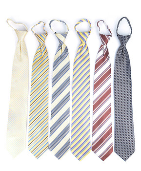 6pc Pack Poly Woven Mixed Zipper Ties - Yellow