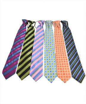 6pc Pack Poly Woven Mixed Zipper Ties - F1