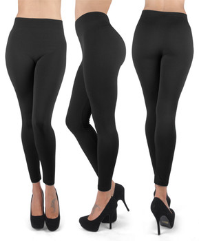 12 Pack 100% Poly Stretch Leggings Black L0634