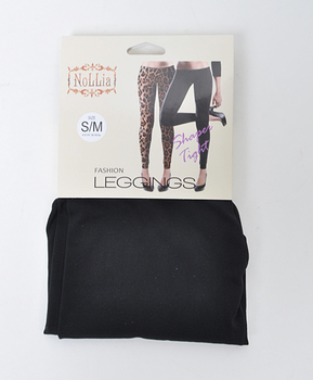 12pc 100% Poly Stretch Leggings Black L0634