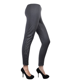 6 Pack 100% Poly Stretch Stone Leggings L0621
