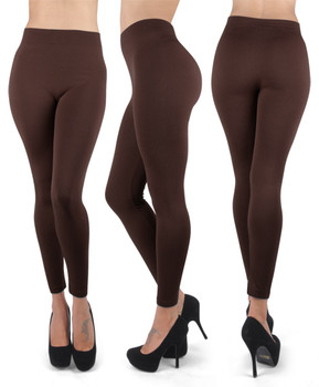 12 Pack 100% Poly Stretch Leggings Coffee L0635