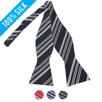 100% Silk Woven Freestyle Bow Tie FBS3700