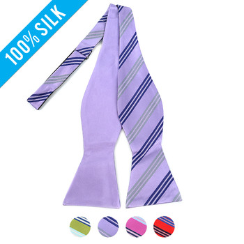 100% Silk Woven Freestyle and Reversible Bow Tie FRBS1030