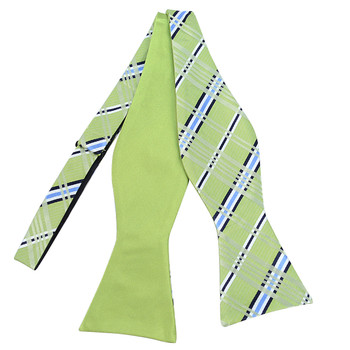 100% Silk Woven Freestyle and Reversible Bow Tie FRBS1040