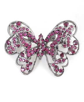 12pc. Brooch - Purple Butterfly IMBCBR03302